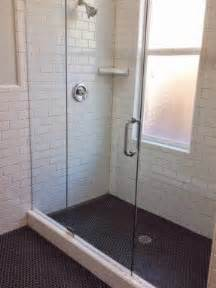 White gold remodel project bathroom m street floor tile black 1