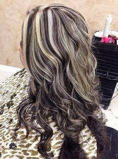 jet black hair  platinum blonde highlights hair