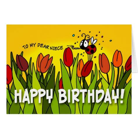 Happy Birthday Wishes Dear Niece Happy Birthday To My Dear Niece Greeting Card Zazzle