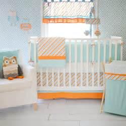 Baby Bedding Orange Orange Crib Bumpers Aqua Crib Bumper Striped Crib