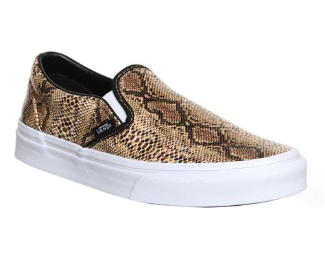 vans classic slip on shoes snake gold unisex sports