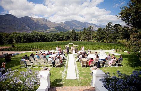 top 5 wedding venues in cape town 5 top franschhoek wedding venues where s my wedding