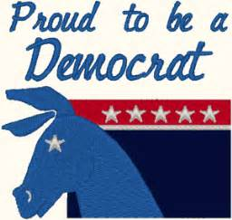 what color is the democratic democratic symbol embroidery design