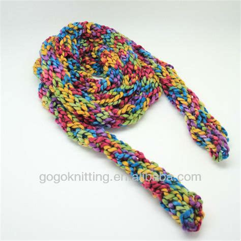 how do you finger knit a hat new fashion diy kit finger knitting hat and scarf buy
