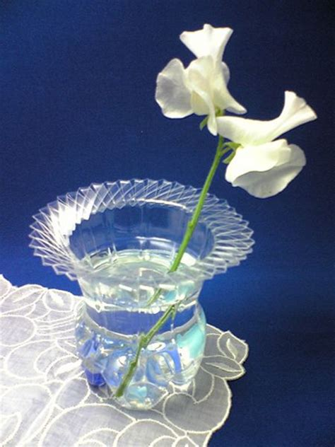 Plastic Bottle Vase recycle a plastic bottle into a vase dollar store crafts