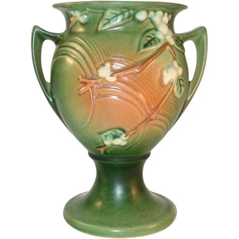 Roseville Snowberry Vase by Quot Quot Roseville Pottery Late 1940s Snowberry Pattern