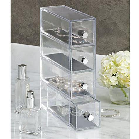 vanity drawer organizer australia interdesign clarity vanity jewelry organizer 4 drawers