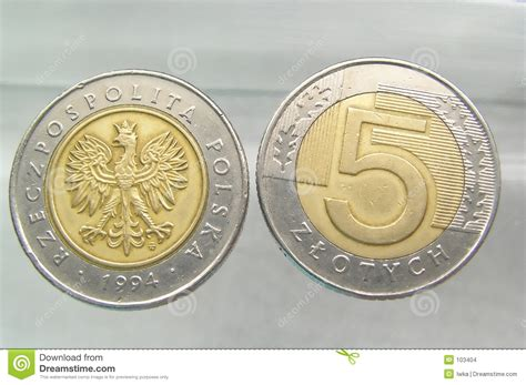 Coins - 5 Polish Zloty Stock Images - Image: 103404