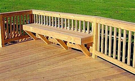 deck railing with bench seating outdoor bench with back deck built in seats railing deck