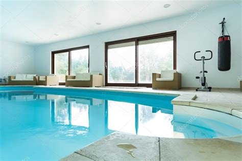 House With Pool Inside | swimming pool inside expensive house stock photo