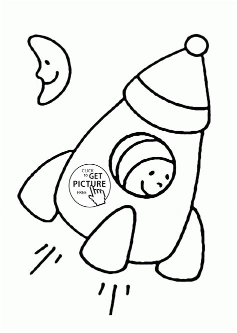 free coloring pages for toddlers simple rocket coloring page for toddlers transportation
