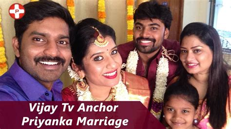 vijay tv priyanka vijay tv anchor priyanka marriage praveen super singer