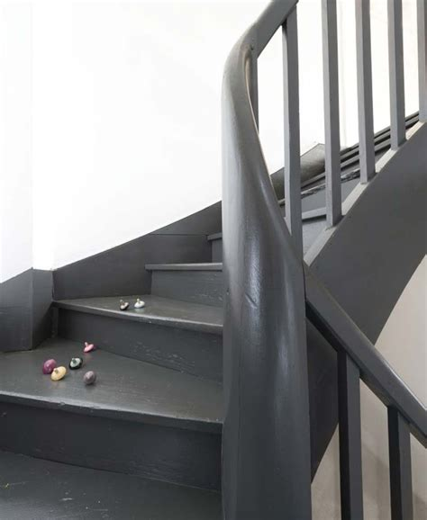 Escalier Peint En Gris by Peindre Un Escalier