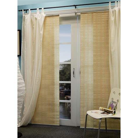 curtain panel system chicology 174 provence creme double rail sliding panel system