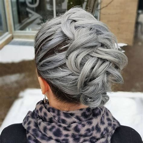 grey hair trend  glamorous hairstyles  women  hairstyles