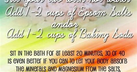 Detox Bath For Meth by Detox Bath With Epsom Salts And Baking Soda Add A Capful