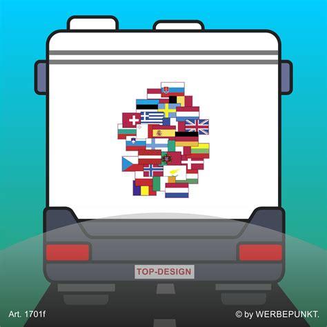 Flaggen Aufkleber Shop by Sticker Wohnmobil Europa Flaggen Autotattoo Aufkleber Ca