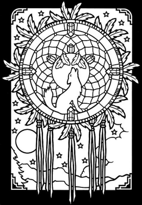 abstract wolf coloring page free stained glass printble coloring sheet abstract