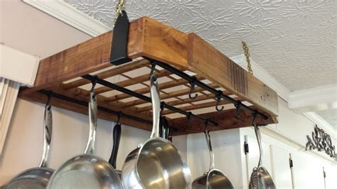 hickory pallet wood pot rack   strict budget