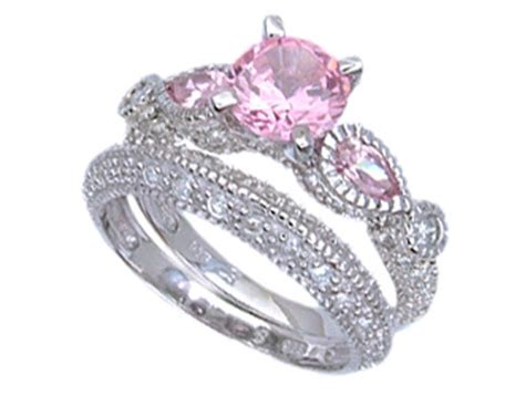 pink camo wedding rings with real diamonds pink camo