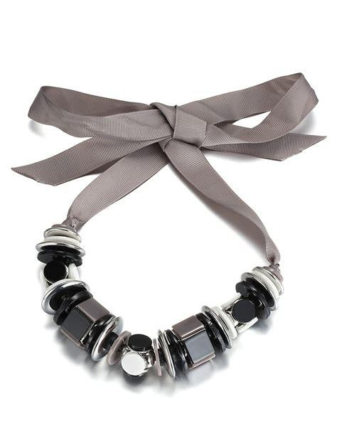 Bowknot Geometric Pendant Necklace silver alloy geometric bowknot choker necklace