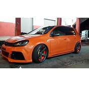 Orange Mk4 Vw Golf Gti 24v Vr6 3pc Wheels Static Airride