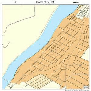 Ford City Ford City Pennsylvania Map 4226512