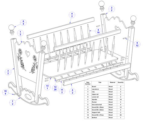 plans for building a baby crib free free baby crib building plans plans free