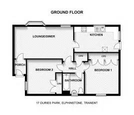Bedroom Floor Plans 2 Bedroom Bungalow House Plans Arts