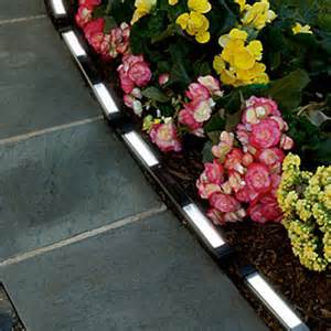 Landscape Edging With Solar Lights Solar Powered Led Edging The Green