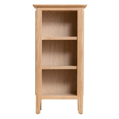 Narrow Bookcase Oak Bergen Oak Furniture Small Narrow Bookcase Free Delivery Oak Furniture House