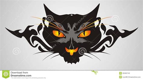 tribal cat stock image image tribal cat on a gray background stock photos image