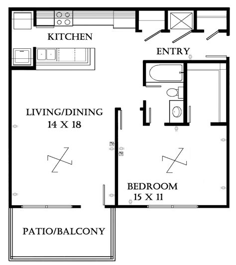 one bedroom floor plans with garage beautiful one bedroom floor plans with garage contemporary