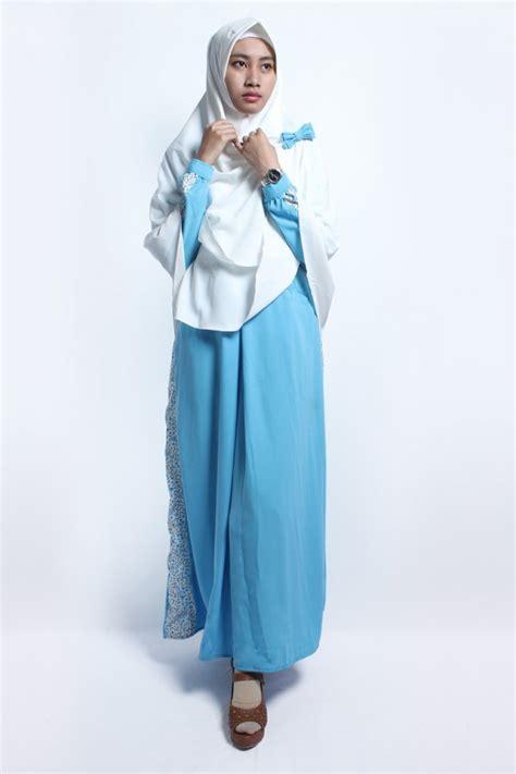 Gamis Nabilla Pashmina gamis nabila biru anizah khimar gamis syar i fesya