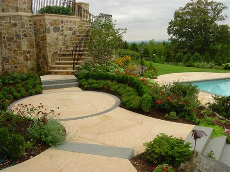 Landscape Patio Designs Swimming Pool Landscaping Ideas Inground Pools Nj Design Pictures