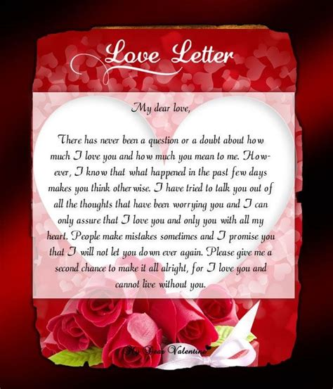 best valentines letter letters to boyfriend letter of recommendation