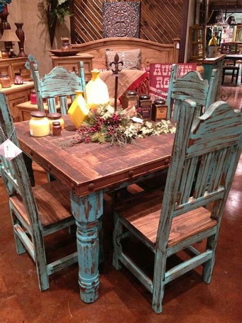 Love The Rustic Turquoise Table Building Our Little Rustic Turquoise Dining Table