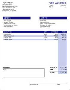 Purchase Order Invoice Template by Oranged Net Software