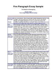 5 Paragraph Essay Exle by Teaching Worksheets Paragraphs