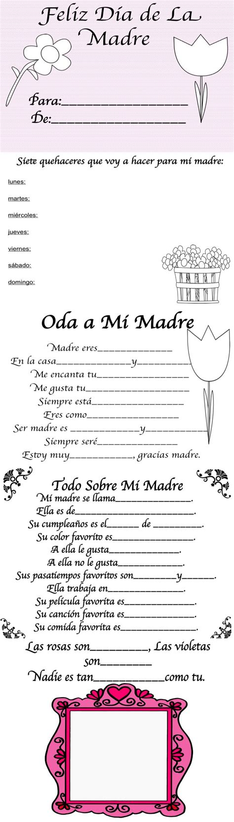 libro madre in spain spanish mothers day book feliz dia de la madre libro ideas for mothers day mother s day and