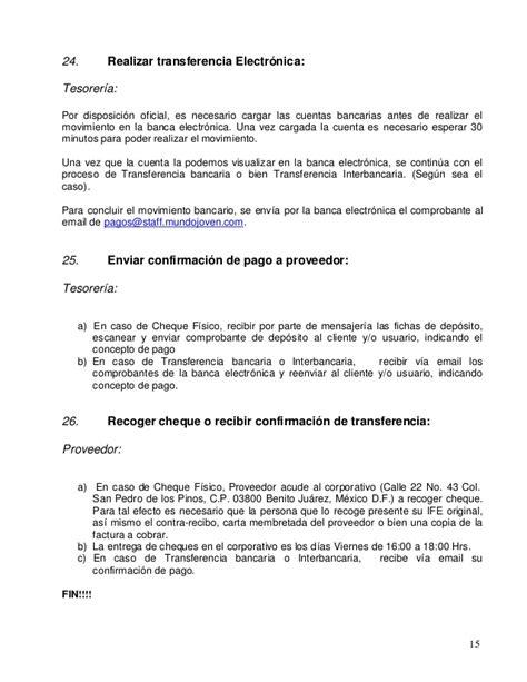 carta de autorizacion transferencia electronica 329108625 manual de cuentas por pagar gastos juls