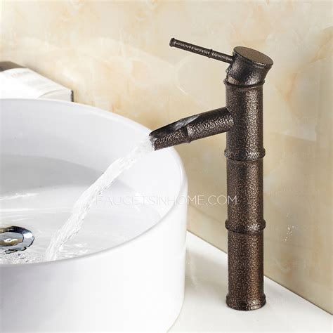 cheap bamboo shaped one bathroom sink faucet