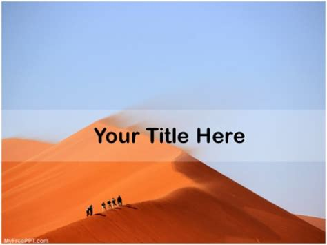Powerpoint Templates Free Download Desert Gallery Powerpoint Template And Layout Desert Powerpoint Background
