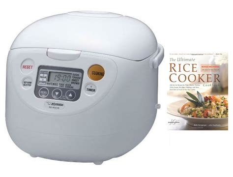Rice Cooker Solid zojirushi 10 cup rice cooker w cookbook azojnswac18wdk1 focus