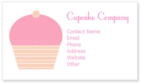Cupcake Business Cards Templates by Free Cupcake Business Card Templates Cupcake Clipart