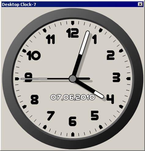 wallpaper clock windows 7 desktop clock 7 v2 01 download freewarelinker com