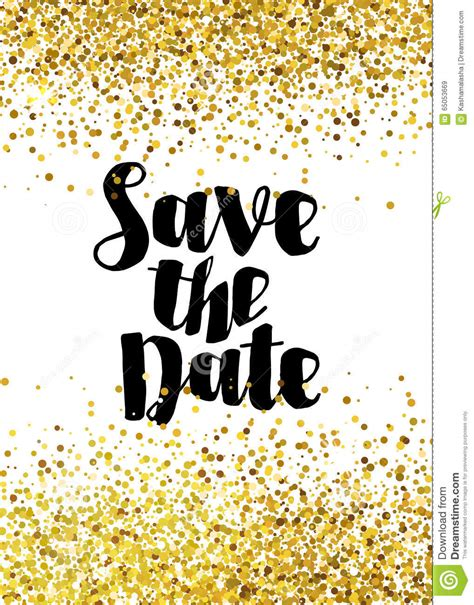 for free save the date golden glitter wedding invitation template