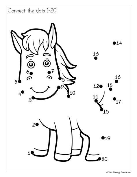 Elegant Dot to Dot 1-20 | Fun Worksheet