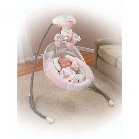 baby swing for girl fisher price cradle n swing my little sweetie mybabyhk