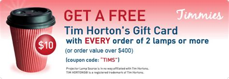 Tim Hortons Gift Card Discount - projector l source offers original projector ls projector bulbs and tv ls in